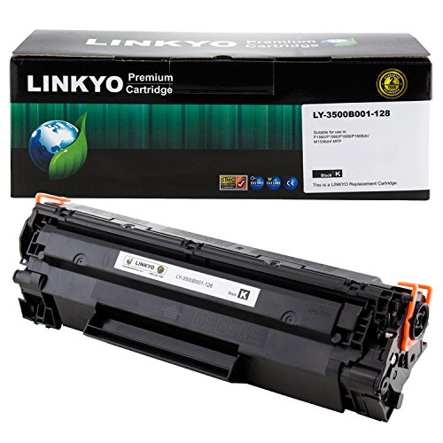 Price comparison product image LINKYO Compatible Toner Cartridge Replacement for Canon 128 (Black)