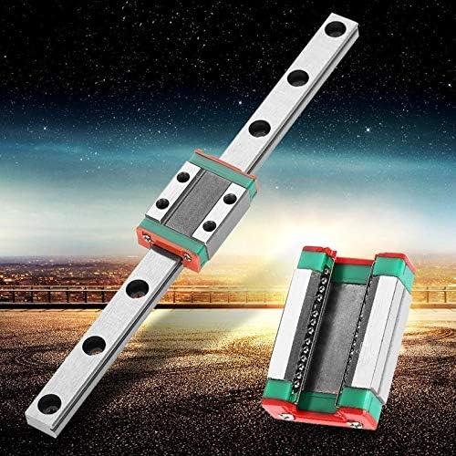 WJW-DAOGUI, 1PC LML9B Miniatur-Linearbahnführungsschiene 9 mm Breite + Gleitblock Linearführungsschiene drucken Teile CNC (Color : 1set, Size : 100mm)