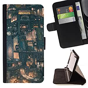 Momo Phone Case / Flip Funda de Cuero Case Cover - Modelo de Futuro de la ciudad japonesa - LG OPTIMUS L90