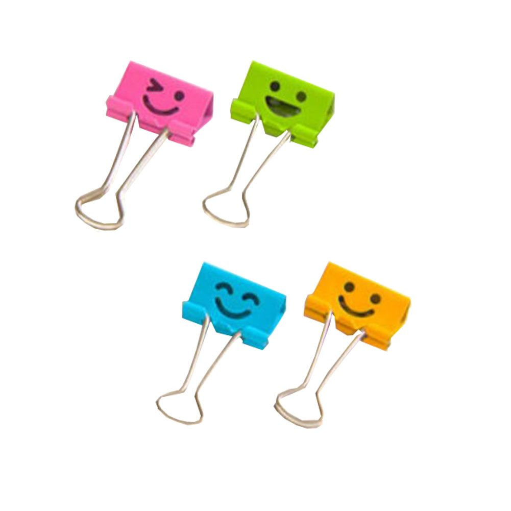 40 Per Box Colorful Cartoon Multifunctional Binder Clips Paper Clips File Clip George Jimmy