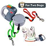 Dog Leash Retractable, Extendable Double Dog Leash No Tangle Automatic Dual Pet Dog Lead Leash 10 Feet(3M) Large Medium Small Dogs To Training, Walking, Jogging Up to 50 Lbs Per Dog