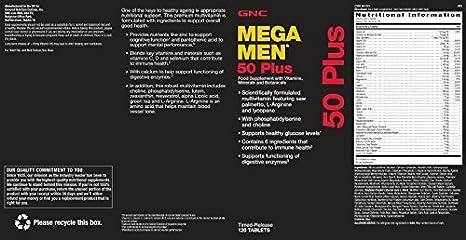 Gnc Mega hombres 50 plus: Amazon.es: Salud y cuidado personal