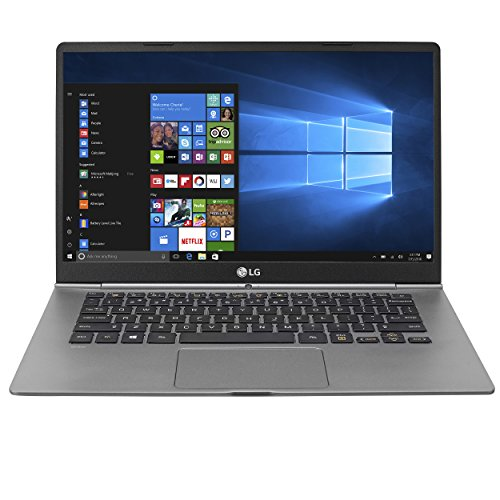 LG gram Thin and Light Laptop - 14' Full HD IPS Touchscreen Display, Intel Core i5 (7th Gen), 8GB RAM, 256GB SSD, 2.1 lbs, Back-lit Keyboard, Dark Silver - 14Z970