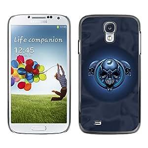 Be Good Phone Accessory // Dura Cáscara cubierta Protectora Caso Carcasa Funda de Protección para Samsung Galaxy S4 I9500 // Blue Skulls