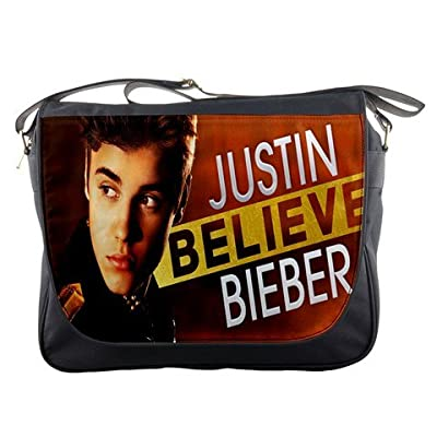 Justin Bieber Believe Messenger Bag School Textbook Macbook Ipad Laptop Computer Sling Cross Body Bags