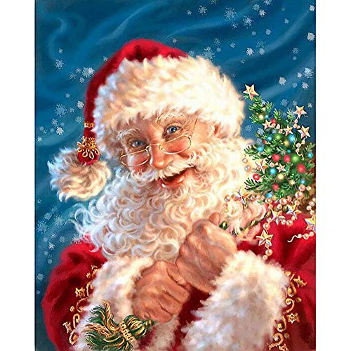 Snowman Diamond Embroidery Ankola Christmas 5D DIY Diamond Painting Embroidery Round Diamond Home Decor Gift 30x40cm (30X40cm, Multicolor -322) ()