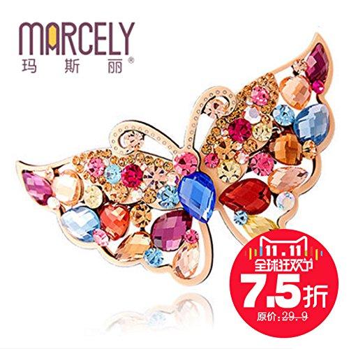 usongs Ma Sili hair accessories hairpin diamond bow ponytail spring clip hairpin top folder sub-head flower ()