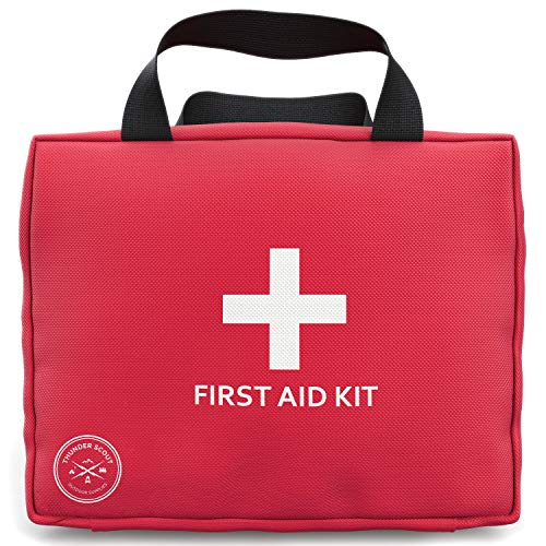 Premium Quality First Aid Kit - 109 Piece - Essential for Maximum Survival and Safety - Ideal for Your Car, Camping, Hiking, Travel, Sports, Boat, Hunting, Kitchen