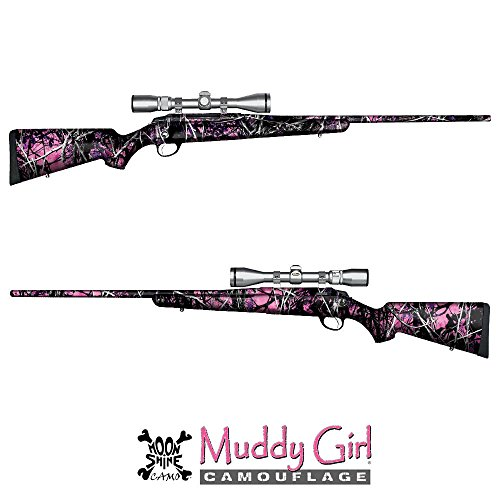 GunSkins Hunting Rifle Skin Camouflage Kit DIY Vinyl Wrap with precut Pieces (Muddy Girl from Moon Shine Camo)