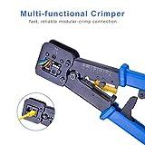 RJ45 Crimp Tool Pass Through Crimper Ethernet Cable