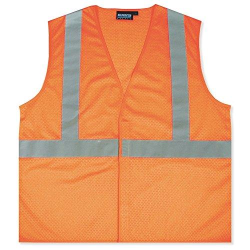 ERB 61435 S362 Class 2 Economy Mesh Safety Vest, Orange, X-Large