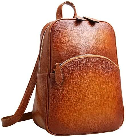 Heshe Women s Casual Leather Backpack Daypack for Ladies