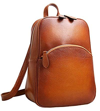Heshe Women's Casual Leather Backpack Daypack