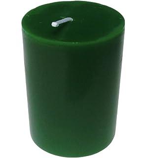 negro tama/ño: 7 x 4,3/cm Velas de pilar Collumino con color s/ólido 3 unidades