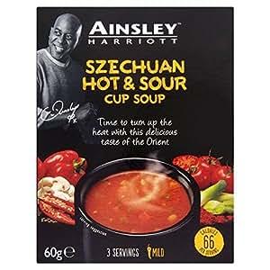 Ainsley Harriot Szechuan Hot & Sour Cup Soup 60g - Pack of 2