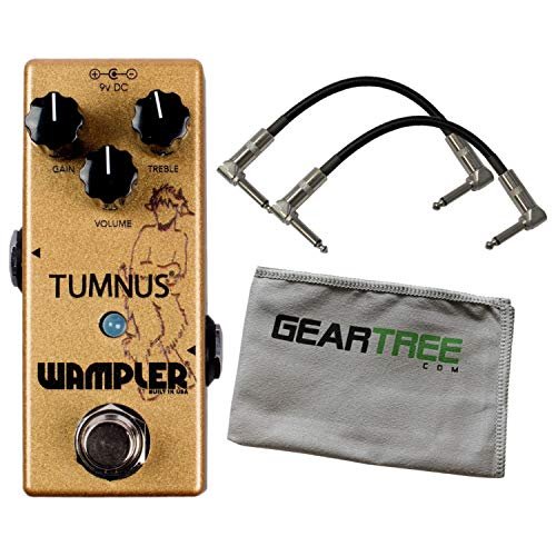 Wampler Tumnus Overdrive Pedal UPDATED w Patch Cables and Polish Cloth