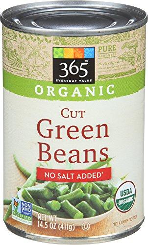 365 Everyday Value Organic Cut Green Beans, No Salt Added, 14.5 - Bulk Beans Green Organic