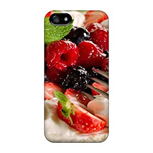 Durable Protector Case Cover With Berries Dessert Hot Design For Iphone 5/5s