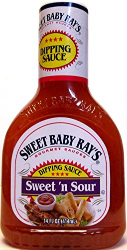 Sweet Baby Ray's Sweet & Sour Dipping Sauce (Pack of 2) 14 oz Bottles