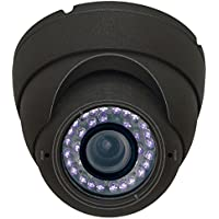 Channel Vision 960H Varifocal Eyeball Dome Camera, Black (6822-B)