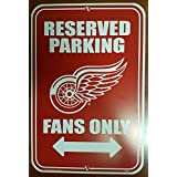 NHL Detroit Red Wings Reserved Parking Sign