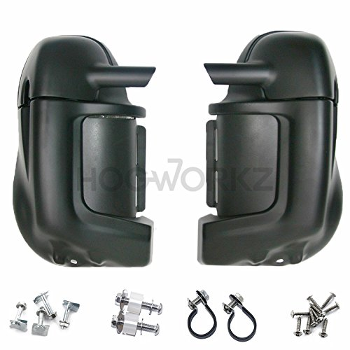 TCMT Black Glove Box Lower Vented Leg Fairings Fits For Harley Touring Ultra-Classic 1983-2013