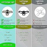 LED Garage Lights, 2 Pack 6000LM Ultra Bright 60W