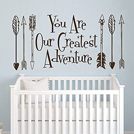 wall decal quote you are our greatest adventure quotes decals vinyl