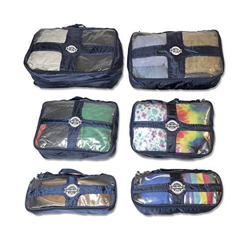 (Gallivanter Gear Expandable Packing Cubes - 6 Pcs Water Resistant Nylon Durable w/handle Organized Traveler System)