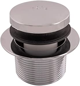 Eastman 35235 Tip-Toe Chrome Plated Bath Drain Assembly Kit with Flange and Drain Washer, Silver Finish