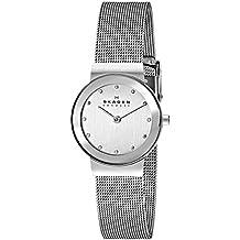 Skagen Women's Ancher Quartz Stainless Steel Mesh Casual Watch, Color: Silver-Tone (Model: 358SSSD)