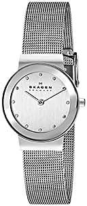 Skagen Women's 358SSSD White Label Analog Quartz Silver Watch