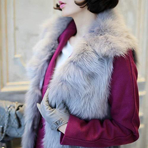 Printemps Sans Automne Loisir Vest Unicolore Slim Elégante Blouson Grau  Manteau Courte Button Gilet Femme Revers Mode ... 96650968a16