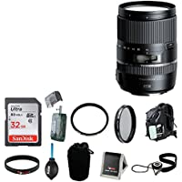 Tamron 16-300mm F/3.5-6.3 Di-II VC PZD Macro w/ Hood for Canon with 32GB Accessory Kit