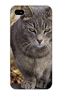 Crooningrose High Grade Flexible Tpu Case For Iphone 4/4s - Animal Cat( Best Gift Choice For Thanksgiving Day)