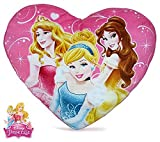 character Disney Princess Heart Shapped Pillow 37cm