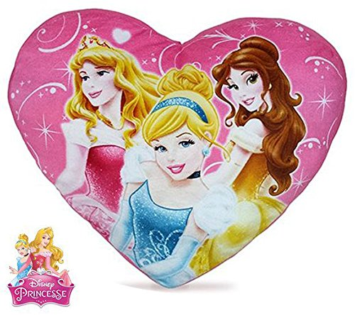 character Disney Princess Heart Shapped Pillow 37cm by character