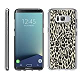 TurtleArmor | Samsung Galaxy S8+ Case | S8 Plus Case | S8 Edge Case | G955 [Flexible Armor] Ultra Slim Compact Flexible TPU Case Fitted Soft Bumper Cover Girl Designs - Fainted Leopard Print