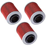 Oil Filters fit CAN-AM COMMANDER BOMBARDIER OUTLANDER MAX 330 400 650 800 500 1000 DS650 DS650X BAJA Replace HF152 & KN152 3pcs