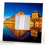 Louvre Museum Paris Wall Mirror Framed with Printed French Art Palace Gallery Home Decor Gift