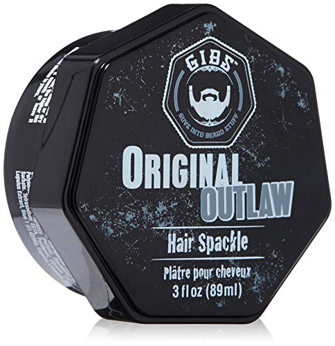 GIBS Grooming Outlaw Hair Spackle Pomade For Men- Matte Finish High Hold, With Shea Butter, Holy Basil & Panthenol, 3oz.
