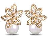 Opal Pearl Stud Earrings or Clip On Dangle Drop Earrings, Charm Jewelry Love Gift For Women Girls