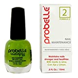Probelle Nail Maintenance with Garlic and Lime, Formula 2, Clear, Nail Strengthening and Nail Protein Treatment .5 Fluid Ounce