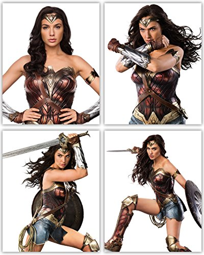 Wonder Woman Movie Poster Wall Decor - Gal Gadot as the DC J