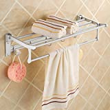 MDRW-Towel Rack Space Aluminum Bathroom Pendant Space Aluminum Bathroom Folding Double