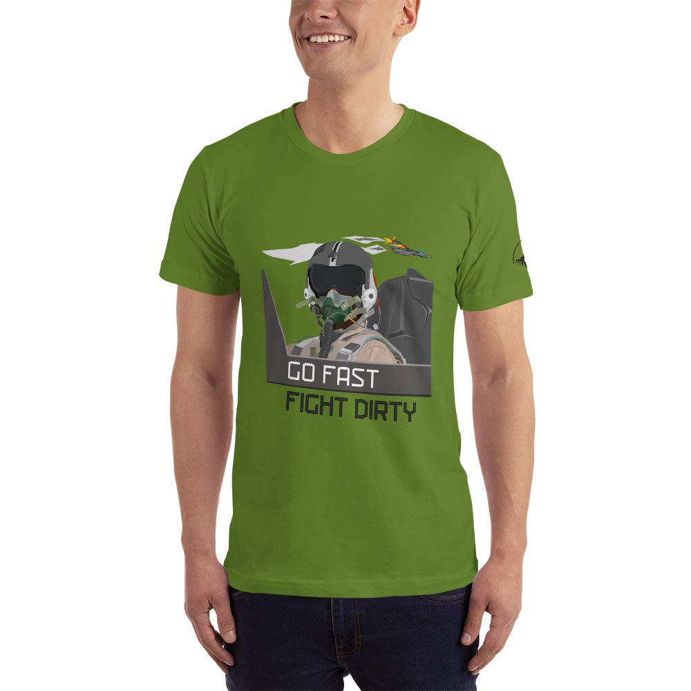Made in U.S Fighter Jet Pilot T-Shirt Unisex Olive