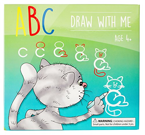 ABC Draw With Me | Wipe Clean Alphabet Flash Cards | Great Birthday Gift Present For Girls Boys Age 3 4 5 6 7 Years Old | Art and Craft -