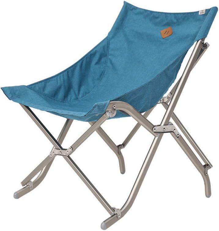 ZMCKD Silla Plegable de Camping Silla Plegable de Camping portátil de Pesca Silla de Camping Asiento de aleación de Aluminio para Caminatas Oso Activo al Aire Libre sobre 110 kg