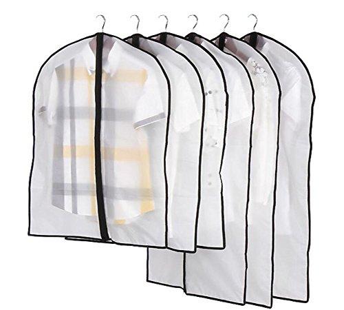 Zedtom 5 Stücke Transparent Kleiderschutzhülle Kleidersäcke, 60x120cm