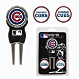 Chicago Cubs Divot Tool & 3 Double Sided Ball Markers